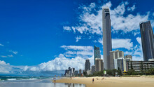 View From The Beach At Surfers Paradise In Queensland