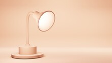 3D Lamp Isolated On Rose Gold Background