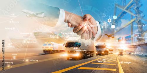 Photo Smart logistics and transportation