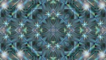 Abstract Textured Moving Green Kaleidoscope Background.