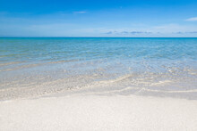 The Word Sea Written On The Sand