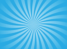 Sunlight Wide Horizontal Background. Bright Blue Color Burst Background.