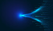 Leinwandbild Motiv Horizontal radiant lines, Internet technology speed sense vector background