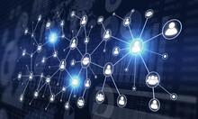 ネットワークとビジネス資料、ソーシャルメディアネットワークのイメージ