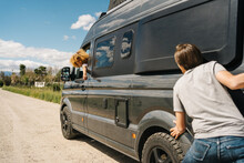 Travelers Having Problem With Camper Van