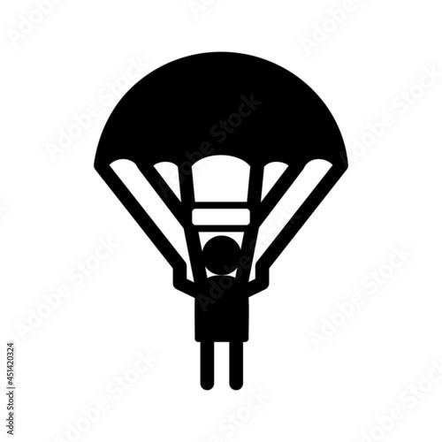 Fotografia Unique Parachuter Vector Glyph Icon
