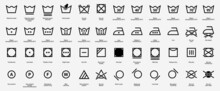 Laundry Vector Icons, Symbols Collection.  Vector Illystration Eps 10