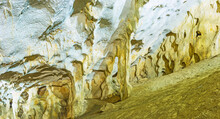 Speleothem Cave Formations In Karain Cave, Yagca, Turkey