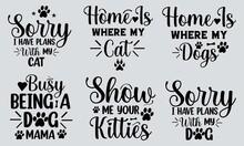 Cat T-shirt Design Bundle, Typography T-shirt Design, Bundle, Cat, Mom, Girls T-shirt Design