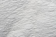 Natural Mineral Limestone Blurred White Background. Pamukkale Travertine Pools Surface Texture, Turkey