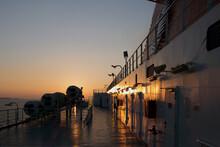 Fähre Im Sonnenuntergang, Ancona