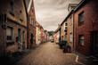 Liebliche Altstadt von Zons am Rhein in Nordrhein-Westfalen in Deutschland im Sommer