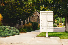 Community Mail Box In Front Of Office Building