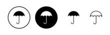 Umbrella Icons Set. Umbrella Vector Icon