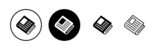 Newspaper Icons Set. News Paper Icon Vector