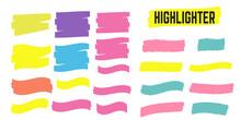 Highlight Yellow Strokes. Highlight Marker Stroke. Marker Pen Highlight