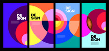 Vector Colorful Abstract Geometric Poster