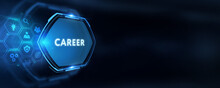 Coach Motivate To Career Growth. Personal Development, Personal And Career Growth. Potential Concepts.