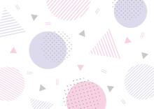 パステルカラーの幾何学模様背景