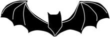 怖いコウモリのシルエット素材