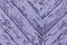 Purple Painted Wooden Background. Lavender Color Texture With Aged Peeling Paint And Roughness