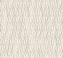 Vector Abstract Small Curve Wavy Line Strokes Seamless Pattern Random Green On White Cream Color Background. Use For Fabric, Textile, Interior Decoration Elements, Packaging, Upholstery, Wrapping.