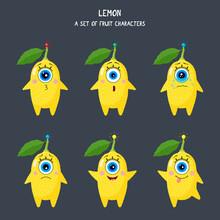 Lemon One-eyed Character