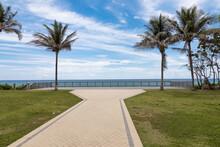 Walkway To The Ocean In Deerfield Beach Florida