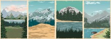 National Parks Vintage Colorful Posters
