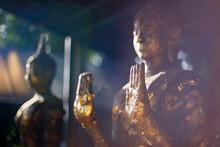 Golden Buddha In Wat Chet Yot, Seven Pagoda Temple In Chiangmai