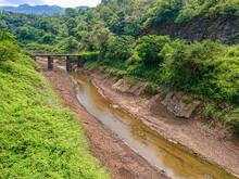 A River With Little Water In Kandy-Mahiyanganaya Main Road, Sri Lanka