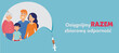 Szczepienia przeciw COVID.  banner ze szczęśliwa rodzina. vector
