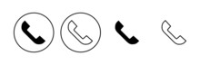 Call Icon Set. Telephone Icon Vector. Phone Icon Vector. Contact Us