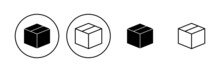 Box Icon Set. Box Vector Icon, Package, Parcel
