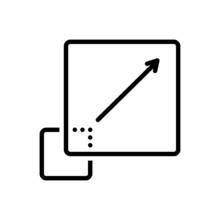 Black Line Icon For Bigger