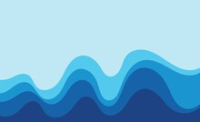 Wave Blue  Background Vector Wallpaper