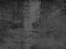 The Old Cement Wall Was Weathered, The Surface Was Scratched, The Surface Was Scratched And Damaged. For A Mysterious Retro-conservative Background.