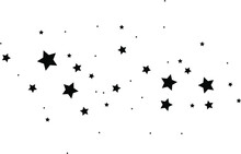 Star Cluster, Constellation Abstraction, Comet Star Dust, Stargazing Comics, Vector Illustration