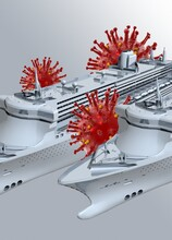 Coronavirus Outbreak On Cruise Ship, Conceptual Illustration