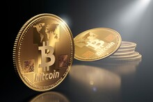 Bitcoin Cryptocurrency, Conceptual Illustration
