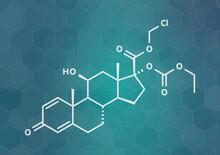 Loteprednol Etabonate Drug Molecule, Illustration