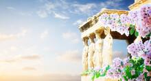 Erechtheion Temple In Acropolis Of Athens
