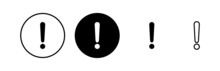 Exclamation Danger Sign Vector Icon Set. Attention Sign Icon. Hazard Warning Attention Sign. Icon Alert. Risk