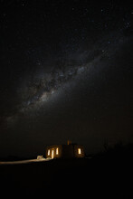 Milky Way Over Old Stone Building