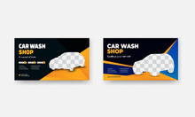 Professional Car Wash Service Social Media Post And Web Banner Design Template