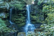 Buck Falls Romantic Waterfall Near Starrucca Pennsylvania In Wayne Country USA