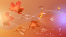 Delicate Background With Autumn Leaves.