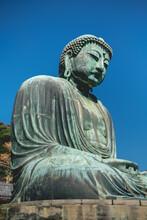 Great Buddha (Daibutsu) Bronze Statue Of Amida Buddha At Kōtoku-in Temple, Kamakura, Japan