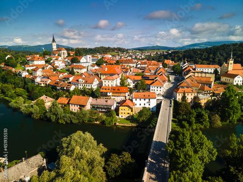Kandija Iron Bridge Old Bridge, on Krka River in Novo Mesto , Slovenia