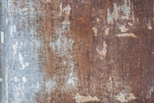 Rusted Metal Plate With Peeling Paint